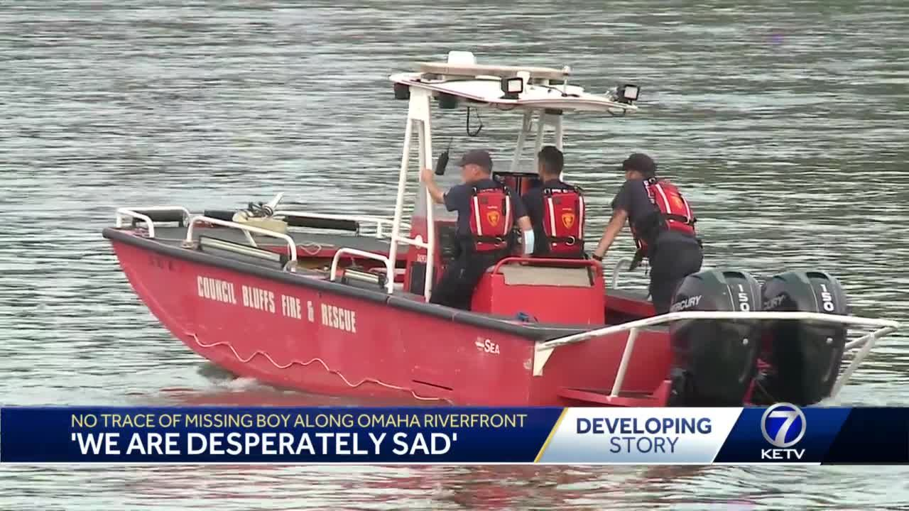 No trace of missing boy along Omaha River Front