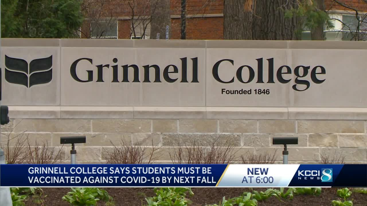 Grinnell College to require COVID-19 vaccinations before student return this fall