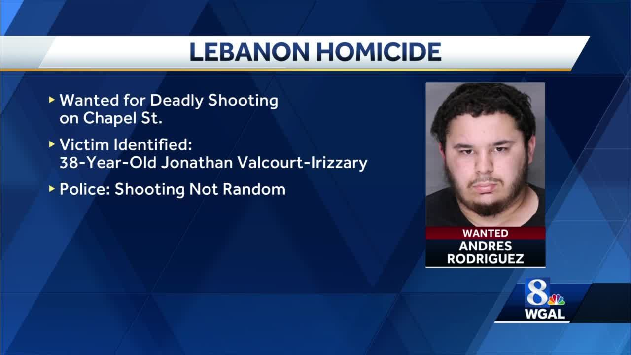 Police in Lebanon looking for man in connection with a fatal shooting.