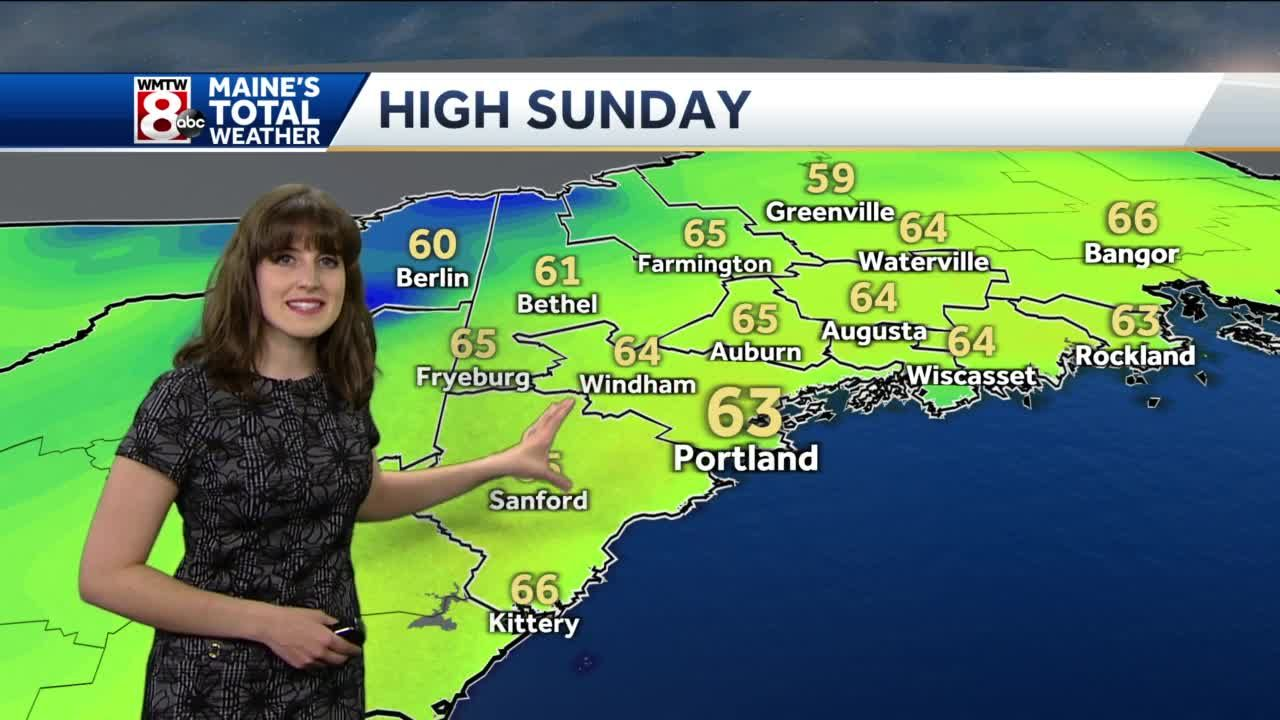 Not as chilly tonight, warmer Sunday