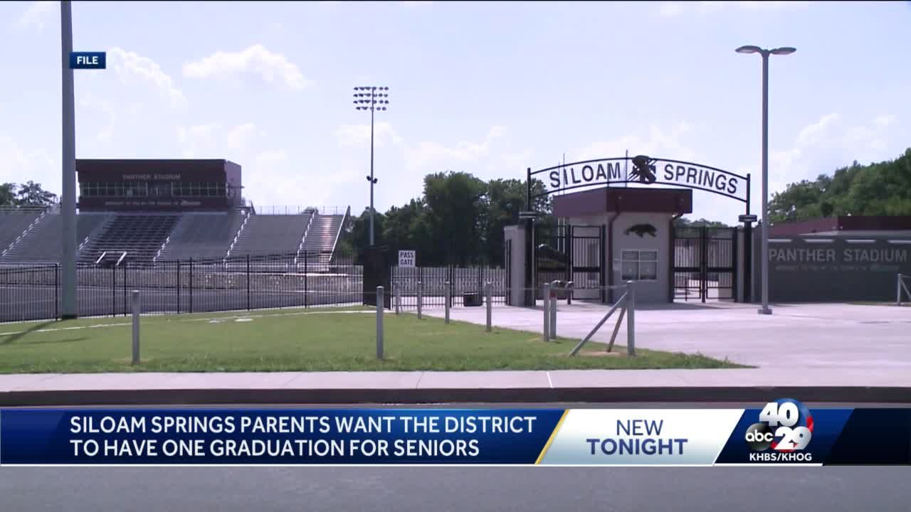 Some Siloam Springs parents want graduation plans to change
