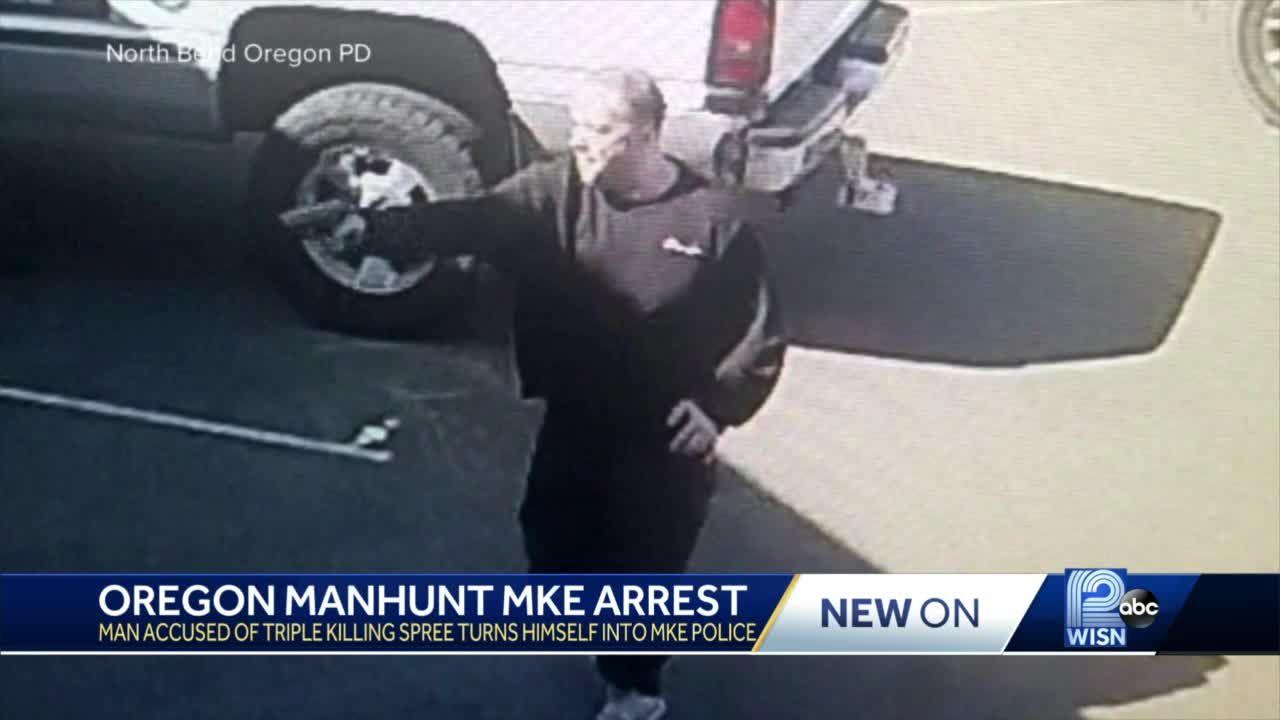 Oregon triple-homicide suspect arrested in Milwaukee