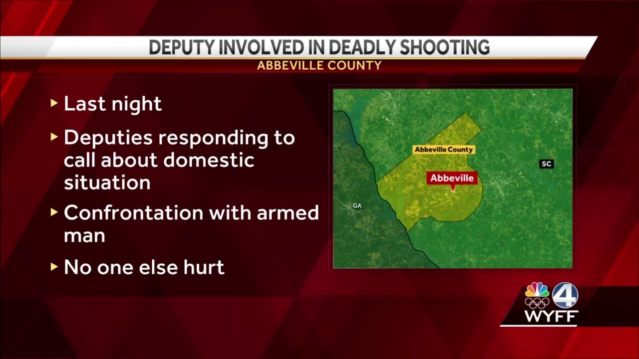 Armed man shot, killed in confrontation with deputy, SLED says