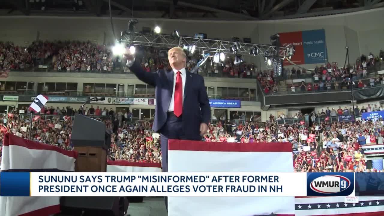 Sununu says Trump 'misinformed' after former president repeats false voter fraud claims