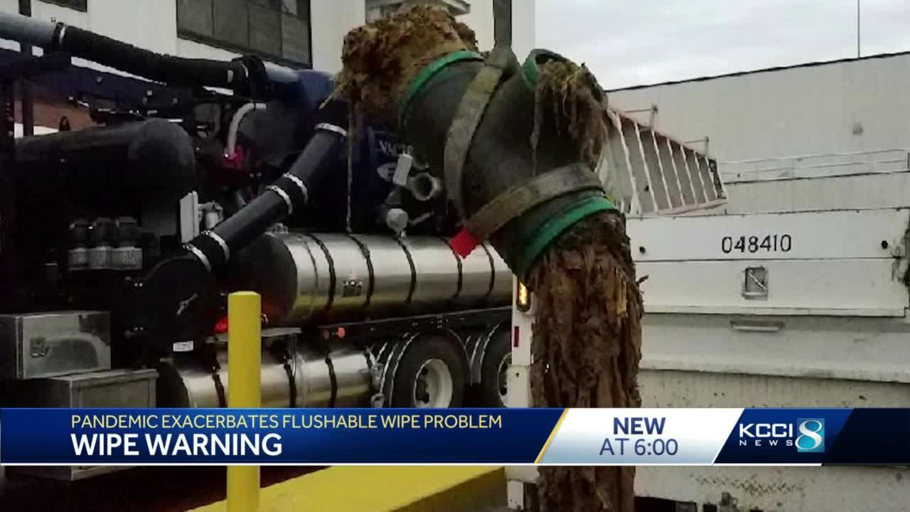 Iowa sewer experts want you to stop flushing your 'flushable' wipes