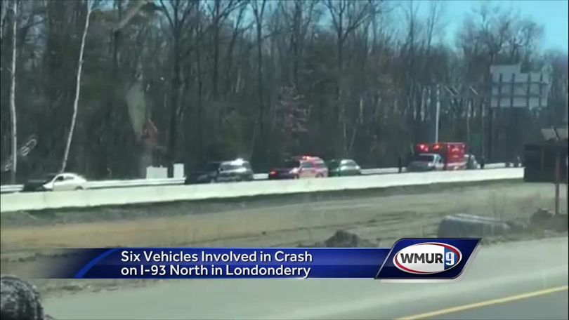 Six vehicles involved in crash on I-93 in Londonderry