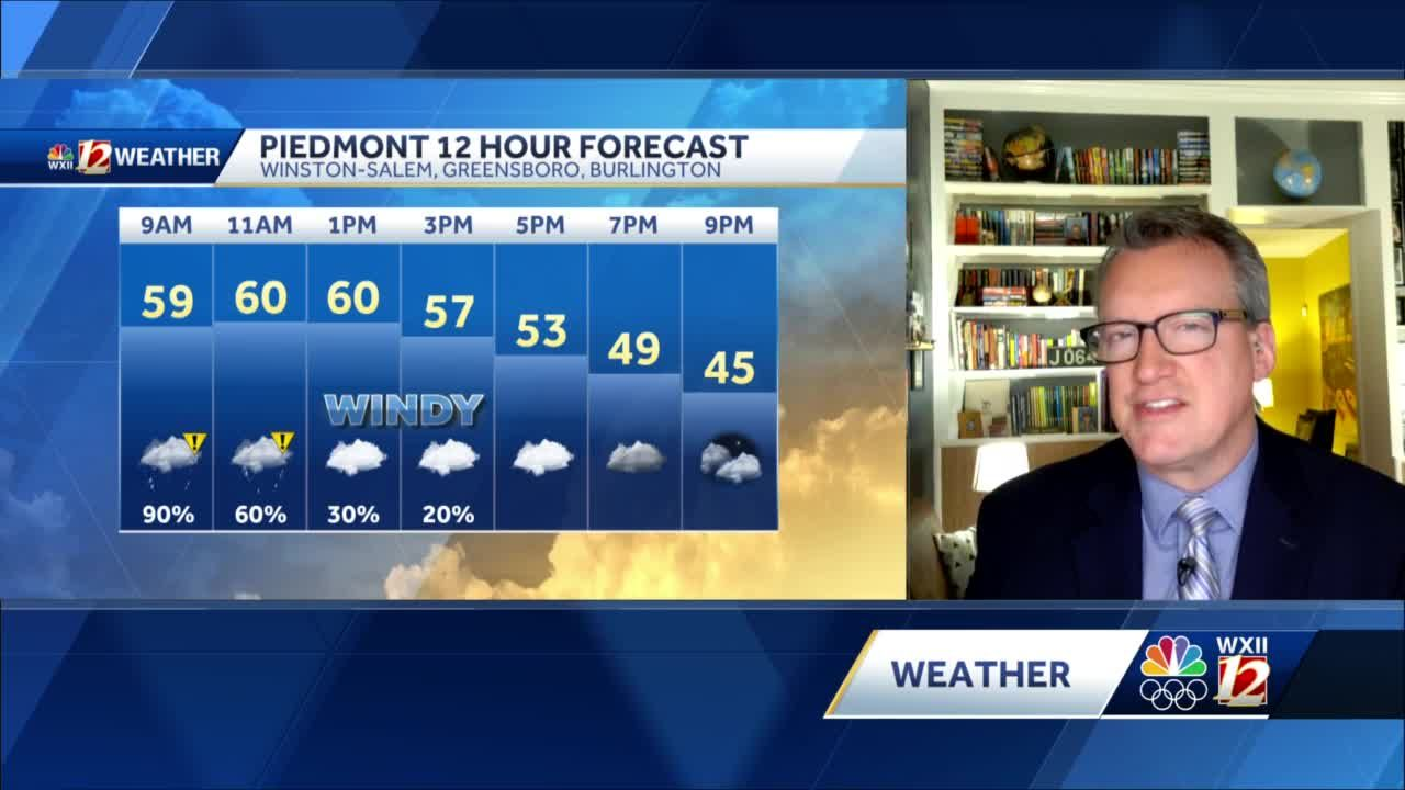 MIld and Rainy Morning, Cooler Week Ahead