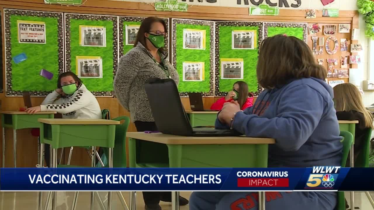 Teachers move to front of the class in Kentucky vaccination process