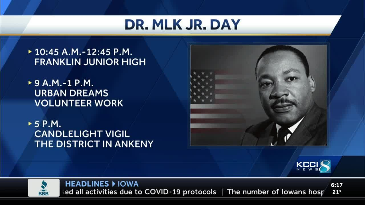 Iowa events honor Martin Luther King Jr.