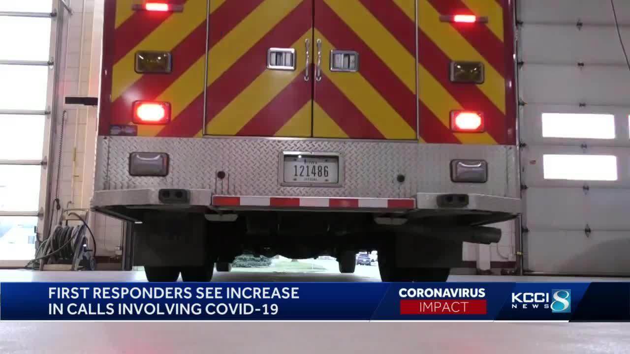 Iowa first responders handle slight increase in calls involving COVID-19