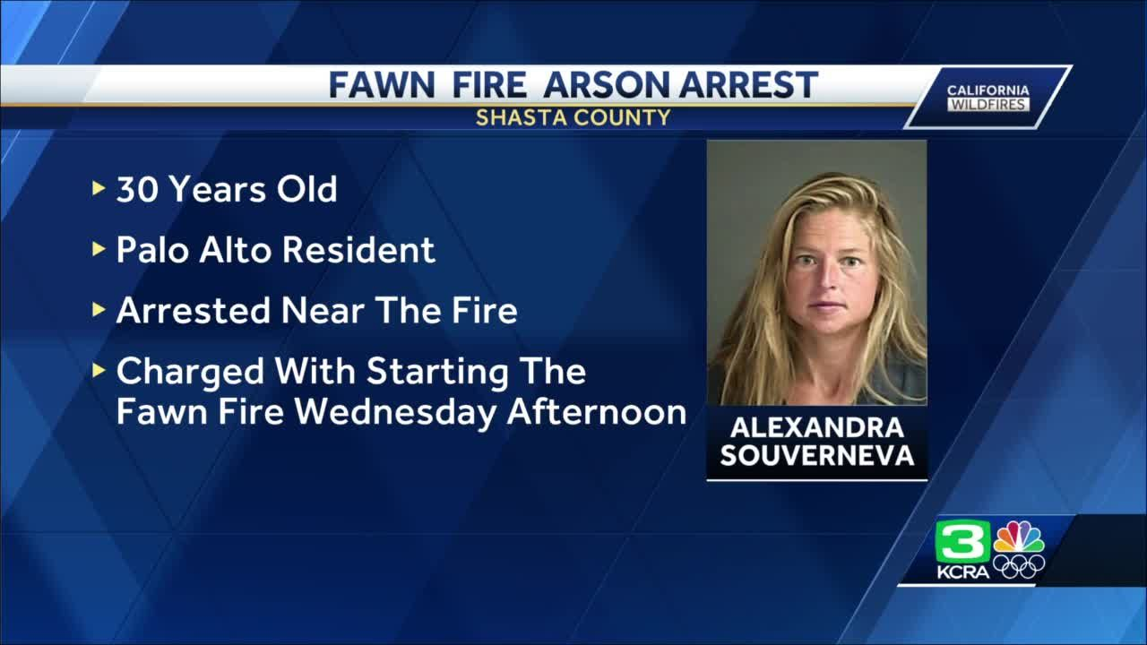 Palo Alto woman faces arson charges for causing the Fawn Fire in Shasta County
