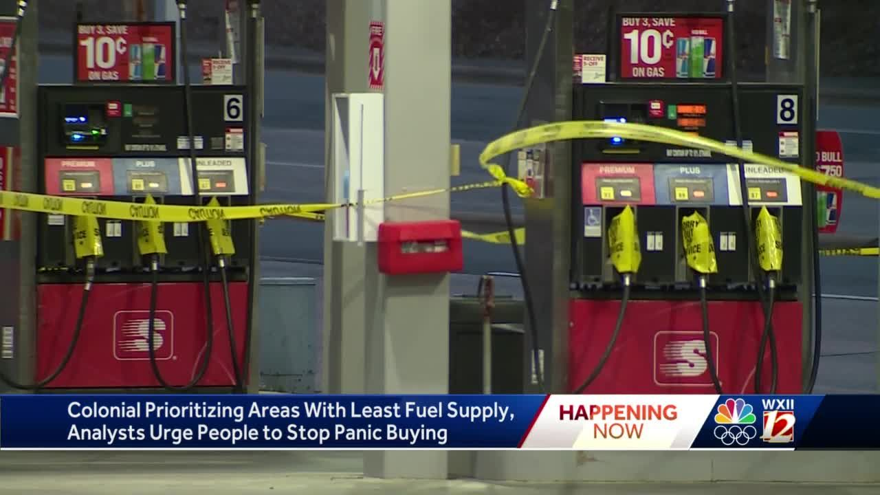 North Carolina: About 25% of all gas station are without fuel Wednesday morning