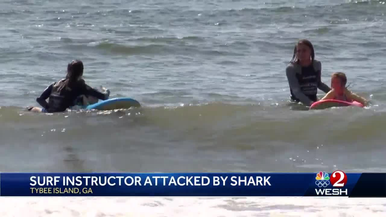 Surf instructor attacked by shark