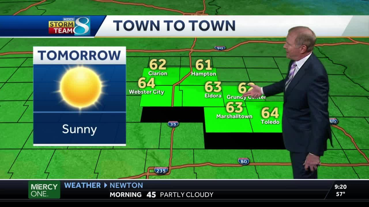 Friday warmer with sunny skies