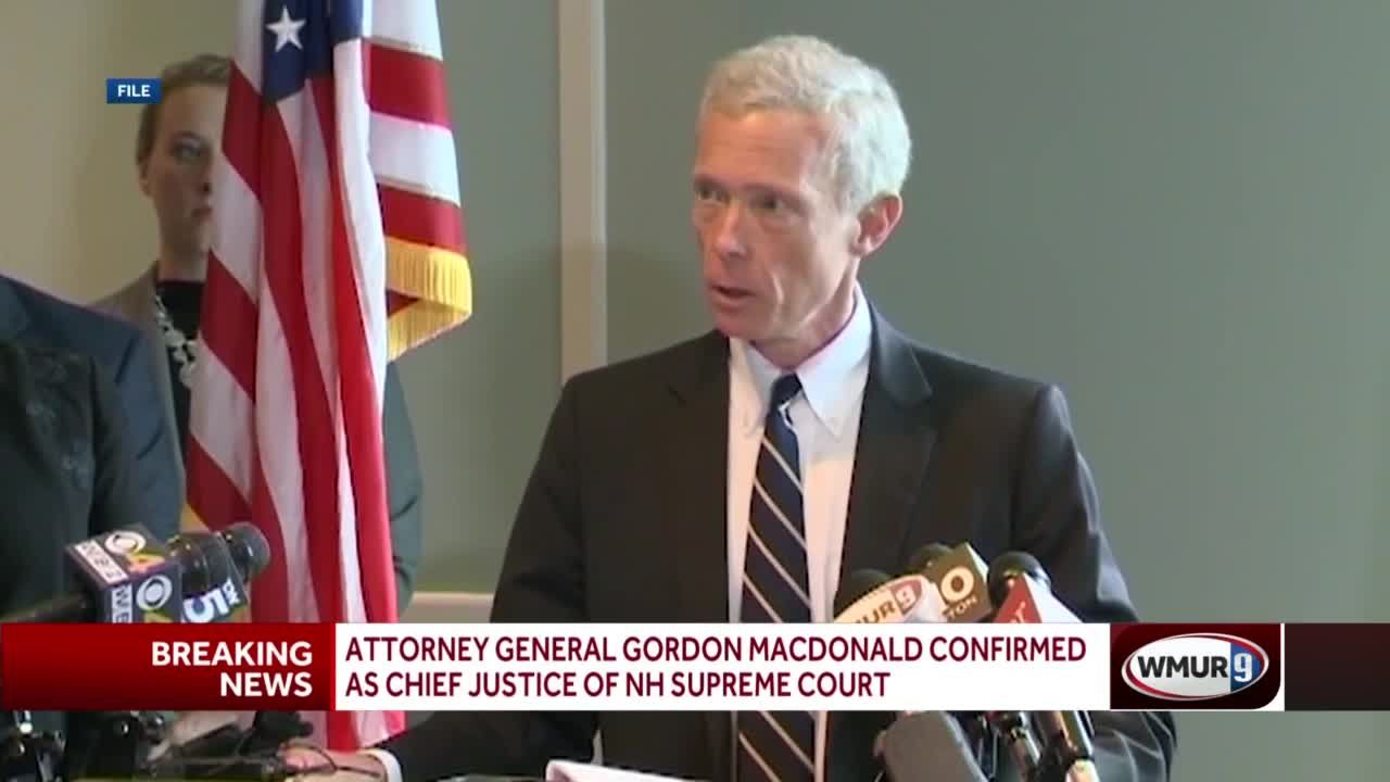 Attorney General Gordon MacDonald confirmed as chief justice of NH Supreme Court