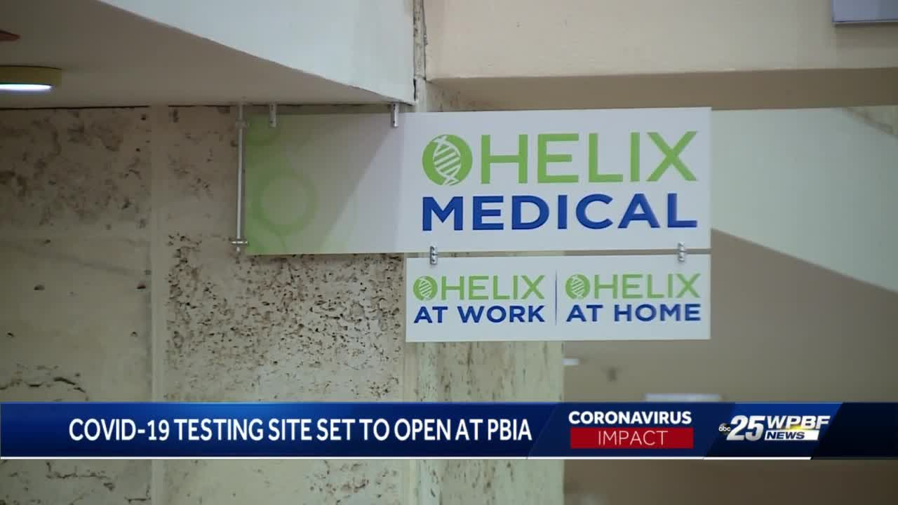 PBIA COVID-19 testing site expected to open Monday morning