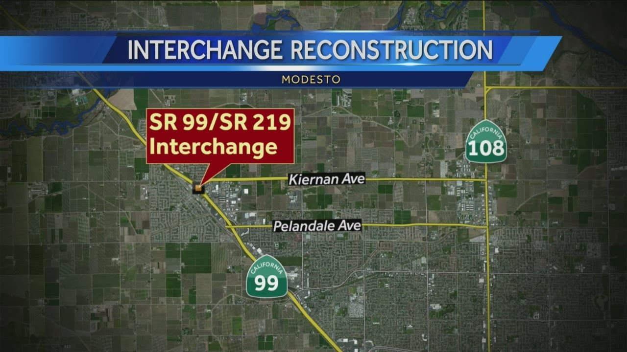 Road closure planned on Hwy 99 in Modesto