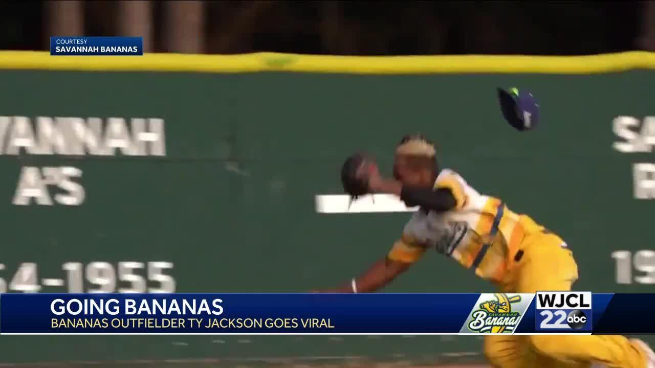 Mic'ed up Savannah Bananas catch goes viral