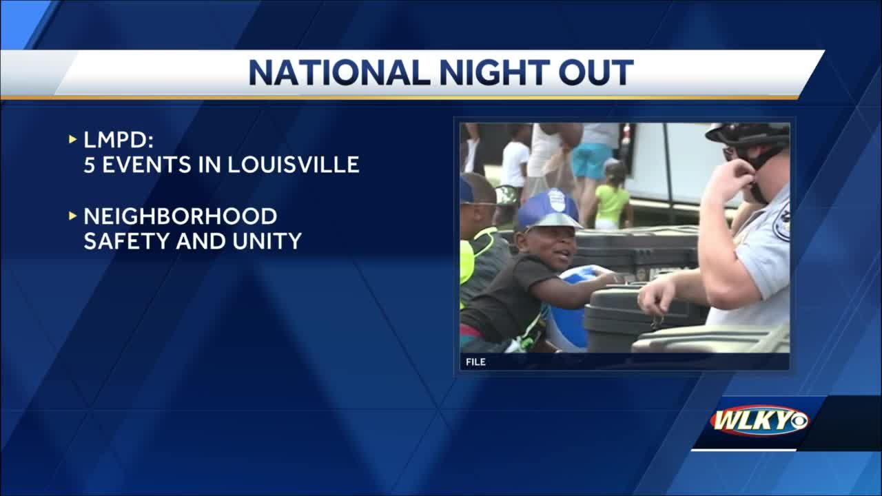 Louisville Metro Police Department celebrating National Night Out with 5 events