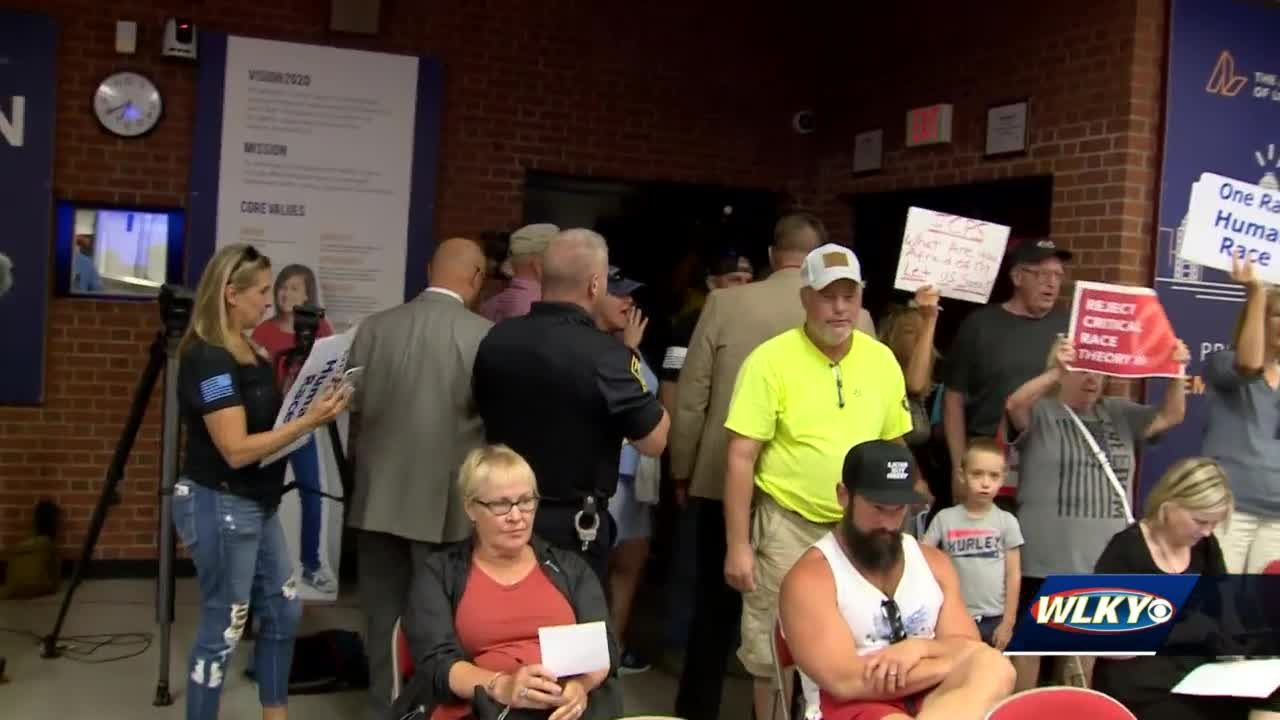Protesters of critical race theory kicked out after derailing JCPS board meeting