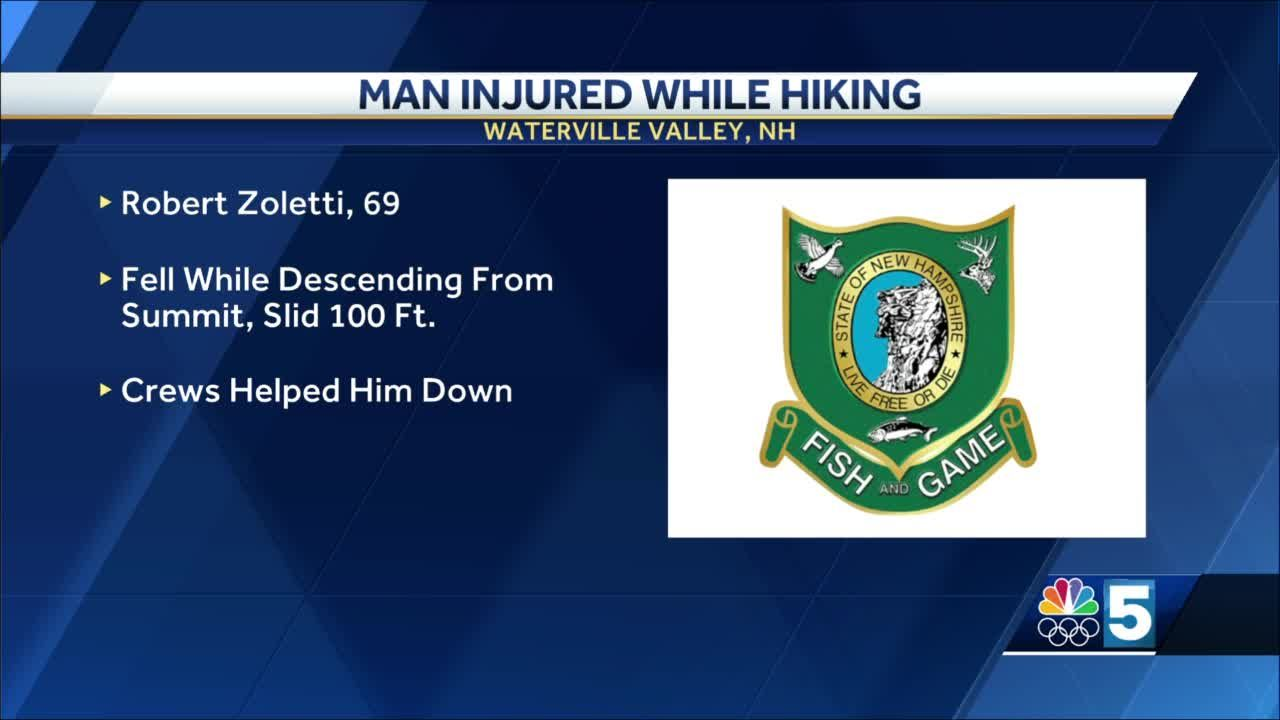 Man injured while hiking