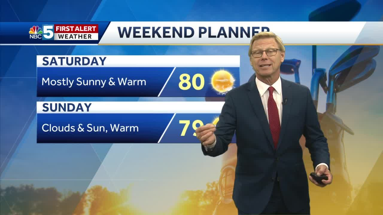 Video: Tom Messner says we'll approach 80 by the weekend. 9.23.20