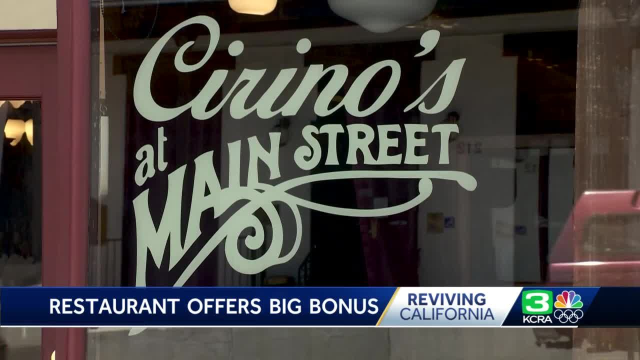 Short-staffed Grass Valley restaurant offers big incentive for new hires