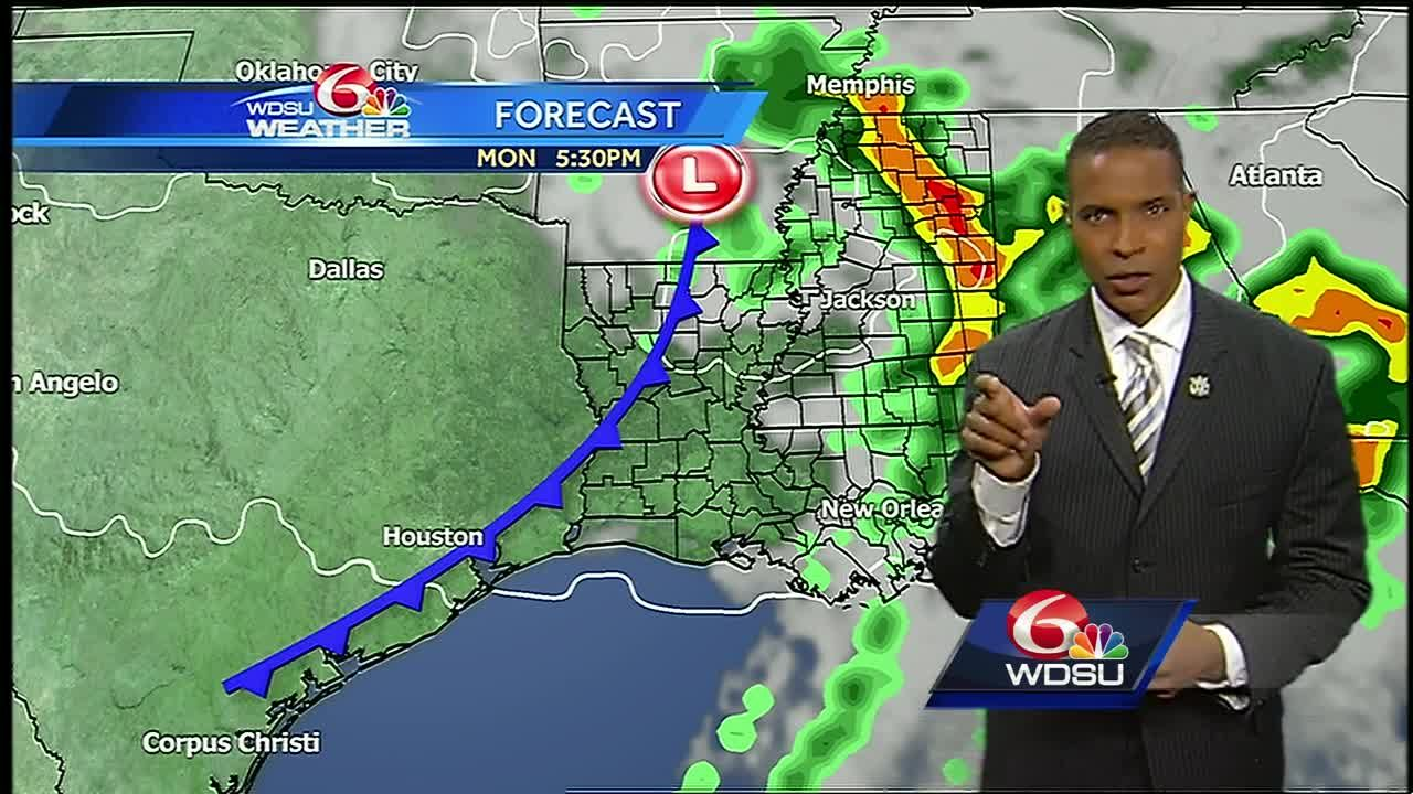 Monday: Severe weather possible