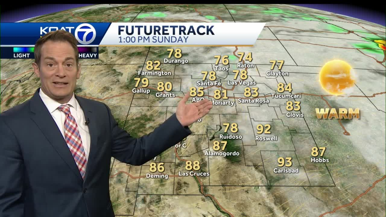 Turning warmer with some spots of much-needed rain into the weekend