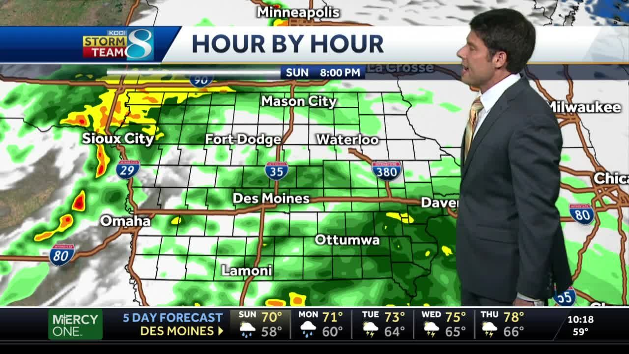 Rainy afternoon expected for Sunday