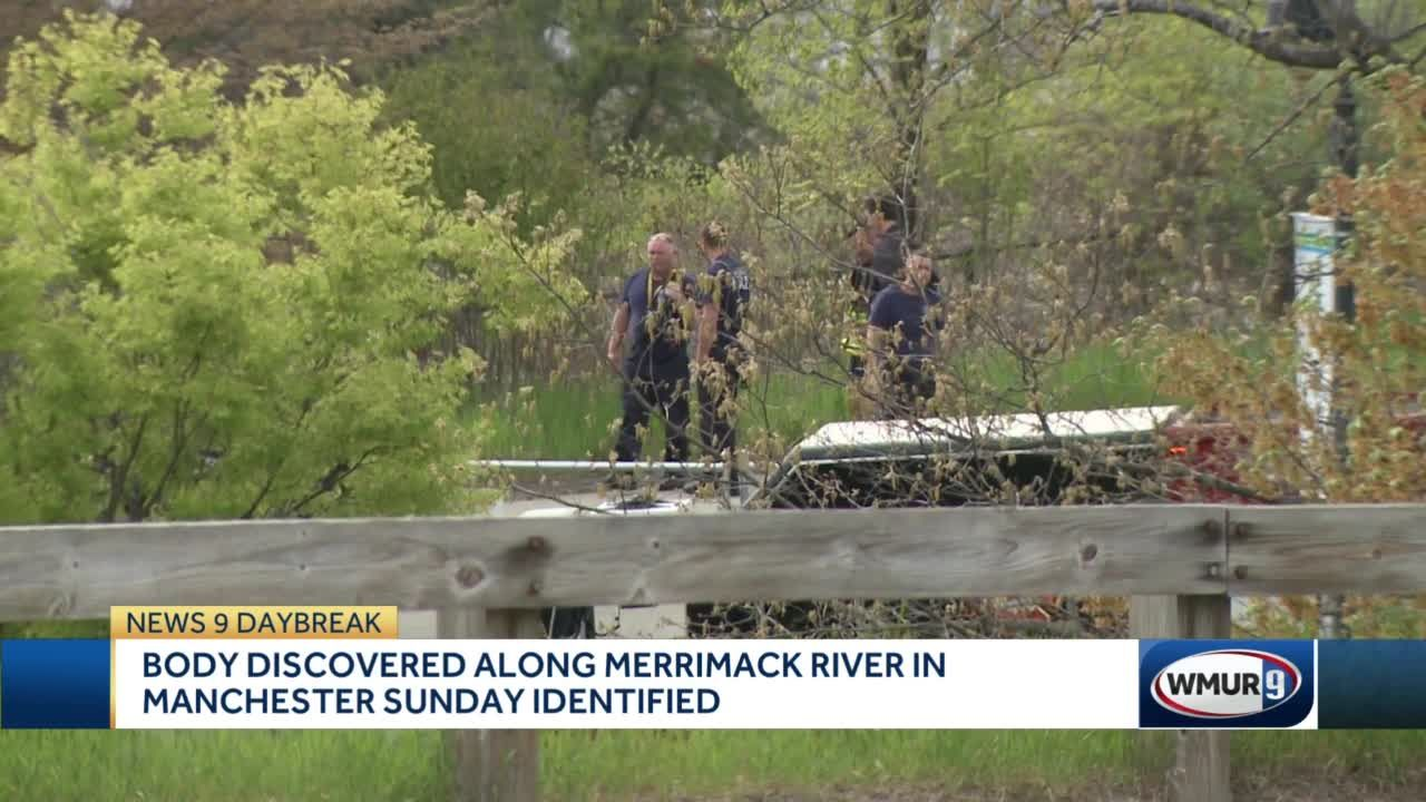 Body discovered along Merrimack River in Manchester Sunday identified
