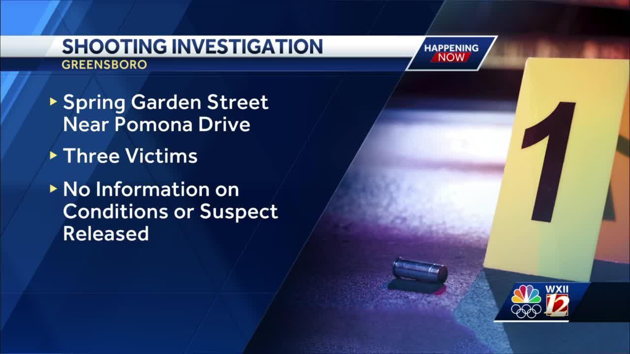 3 people shot in Greensboro overnight on Spring Garden Street
