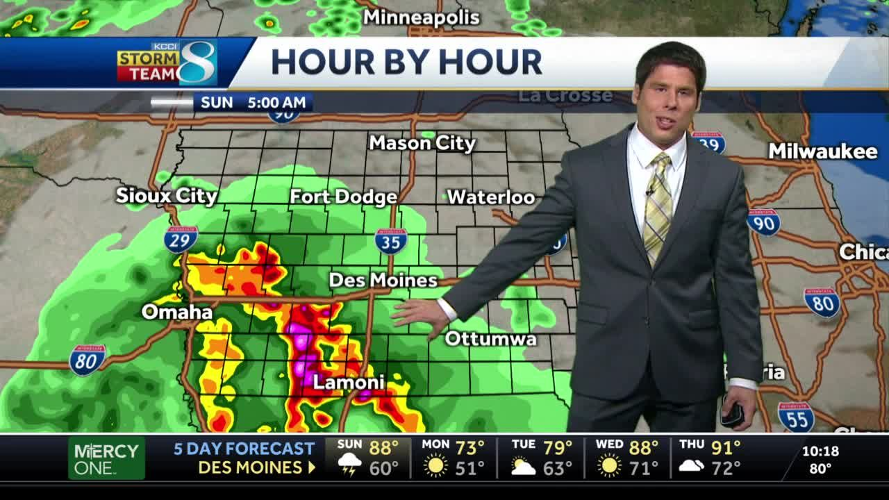 Isolated thunderstorms Sunday