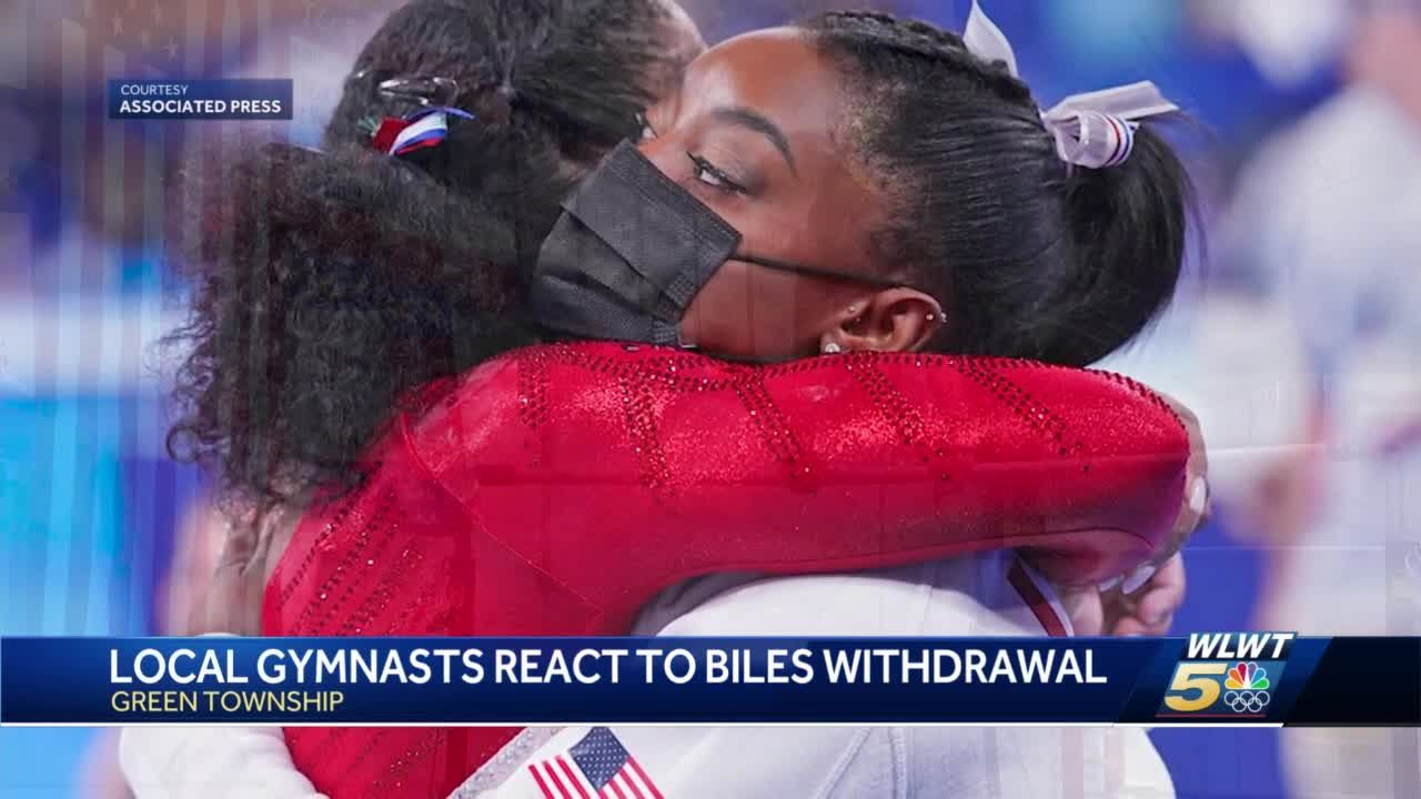 Greater Cincinnati gymnasts react after Simone Biles pulls out of team competition