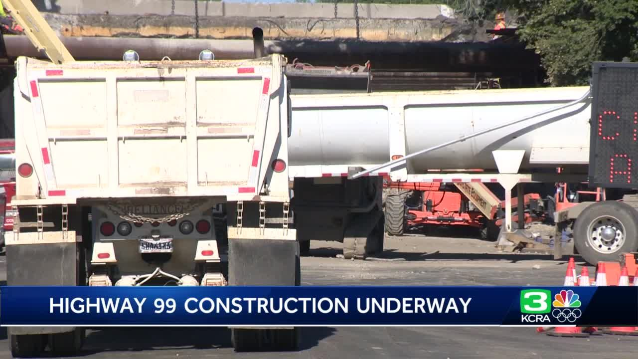 Highway 99 closure continues in Sacramento during construction