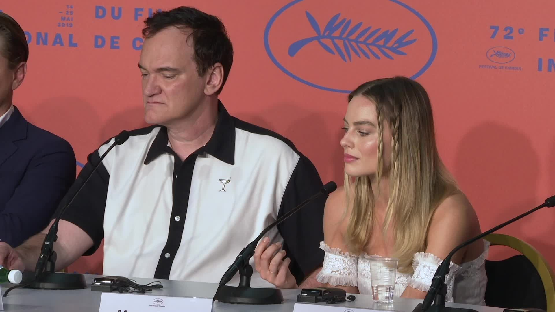 Quentin Tarantino snaps at female reporter over Margot Robbie's role in Once Upon a Time in Hollywood