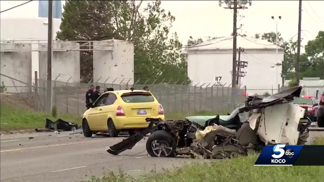 Six-vehicle collision in Del City kills one, sends 9 others to hospital