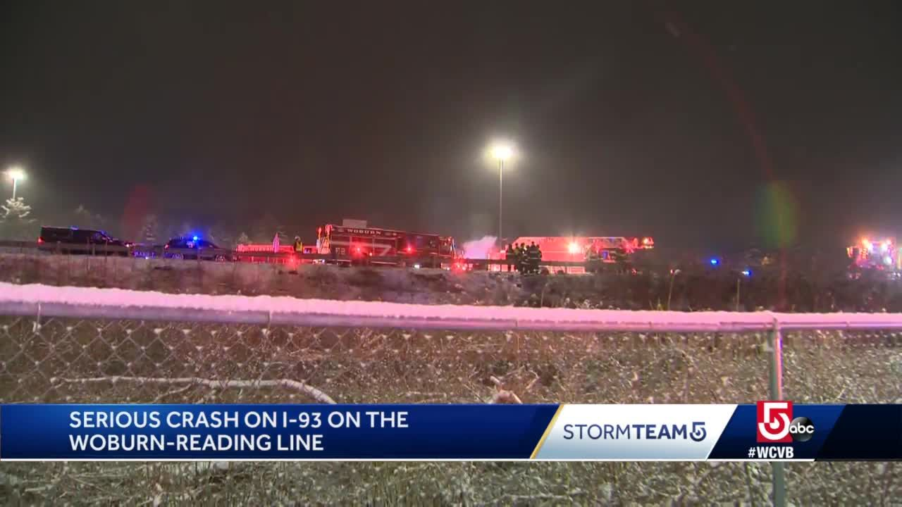 Slippery roads lead to several overnight crashes