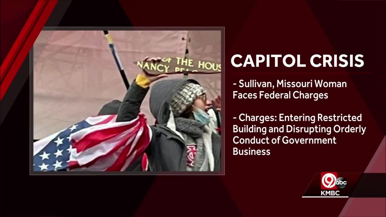 Woman from Sullivan, Missouri charged in U.S. Capitol riot