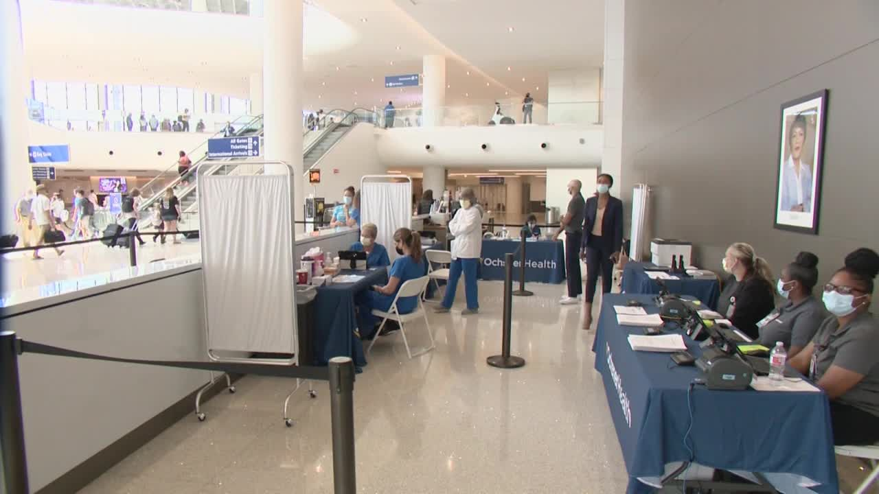 Ochsner, MSY team up to vaccinate travelers at airport