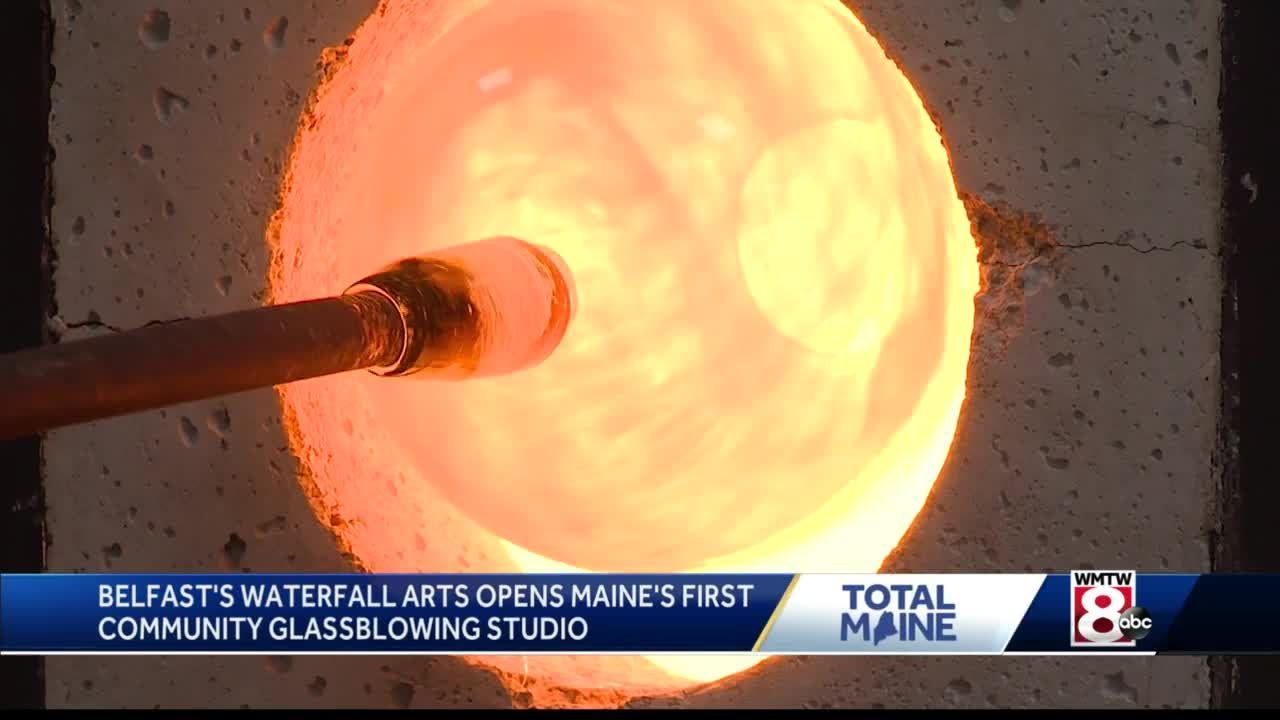 Belfast's Waterfall Arts opens Maine first community glassblowing studio