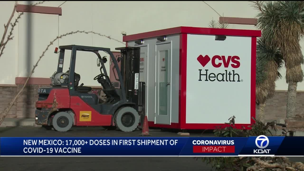 Who gets the first shipment of vaccine doses in New Mexico?