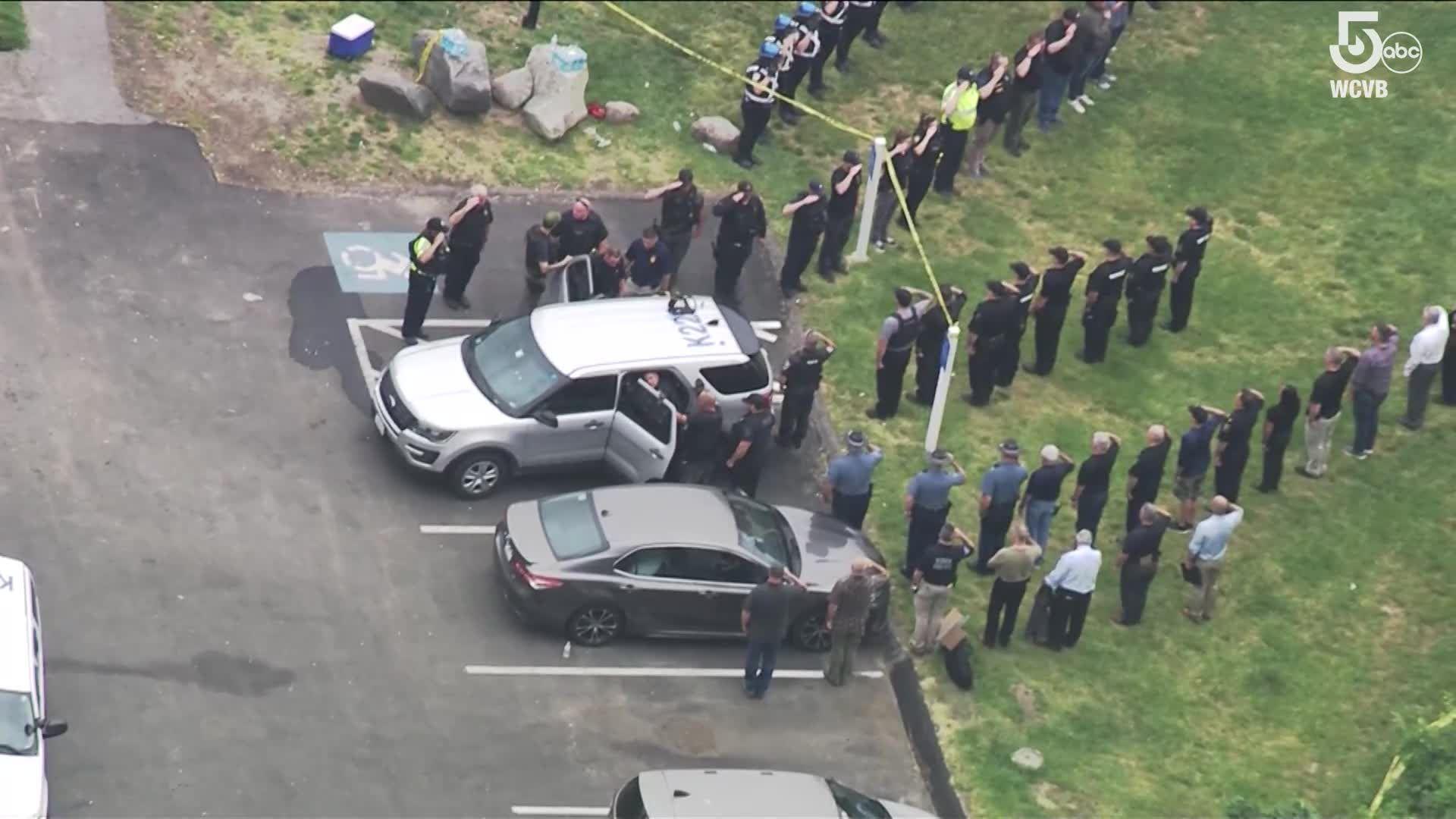Police salute Braintree Police K9 killed responding to call