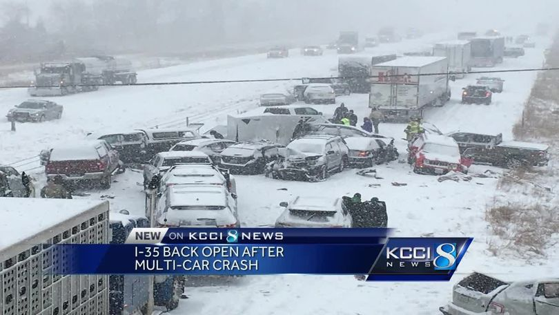 State patrol: 7 deaths, 185 accidents on Iowa roads Monday