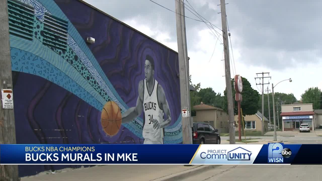 Murals around Milwaukee pay tribute to Bucks