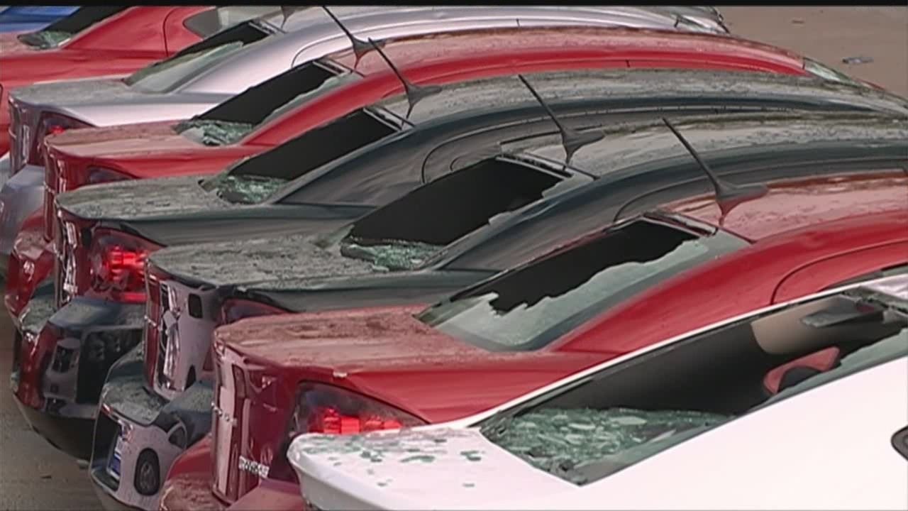 Woodhouse Hail Damage >> Woodhouse Vehicles Nailed By Hail Storm
