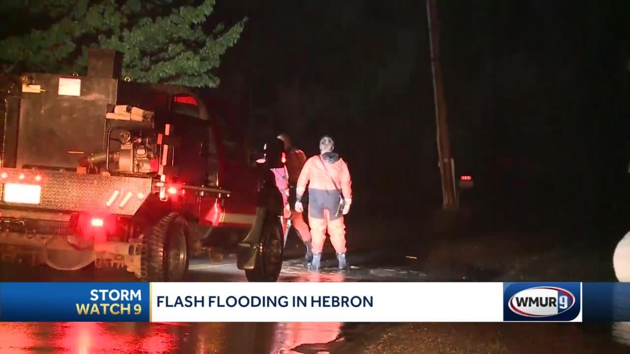 Flash flooding hits Grafton County towns