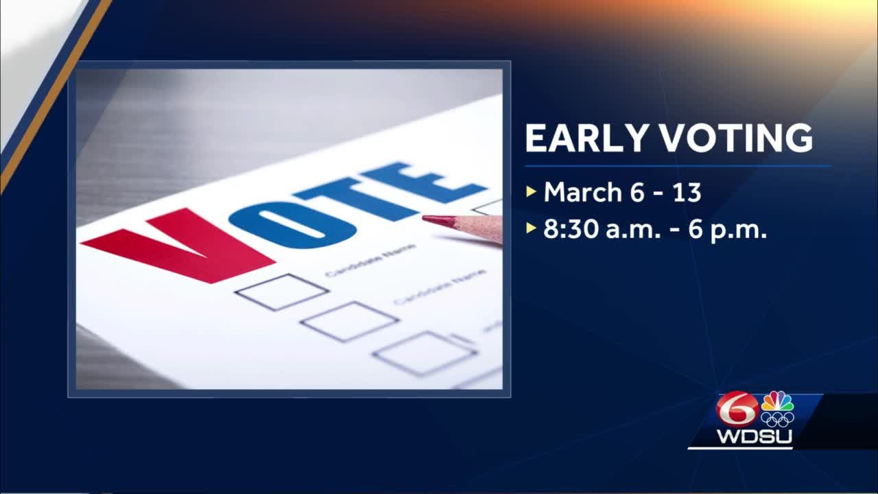 Early voting begins in Louisiana Saturday