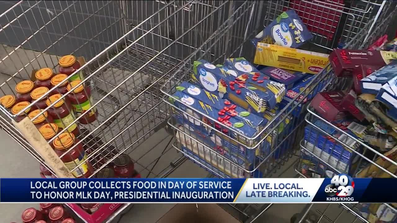 Fort Smith group collects food on Dr. Martin Luther King Jr. Day