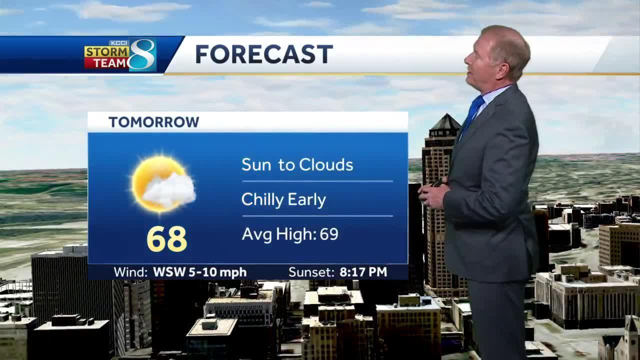 Wednesday sunny ahead of upcoming rain chances